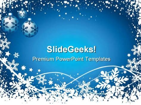 Snowflake Background Christmas Powerpoint Templates And Powerpoint Backgrounds 0711 Microsoft Microsoft Powerpoint Templates Winter