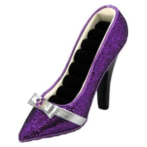 high heel ring holder high heel shoe ring holder purple 4 quot x6 quot things i like