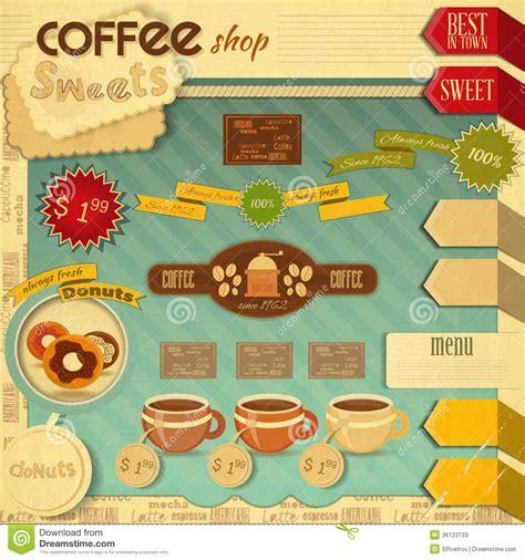 coffee shop retro design coffee shop design stock vector illustration of espresso