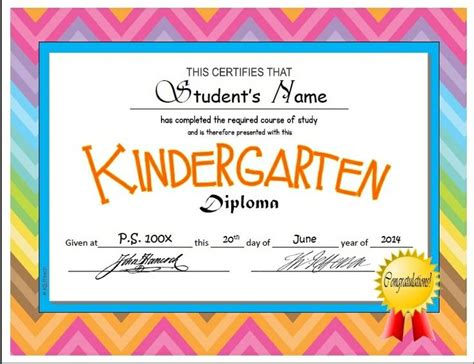 kindergarten certificate template kindergarten pre k diplomas editable kindergarten