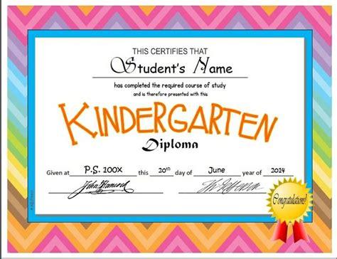 kindergarten graduation certificate template kindergarten pre k diplomas editable kindergarten