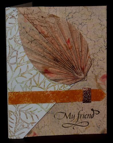 origami leaf cards