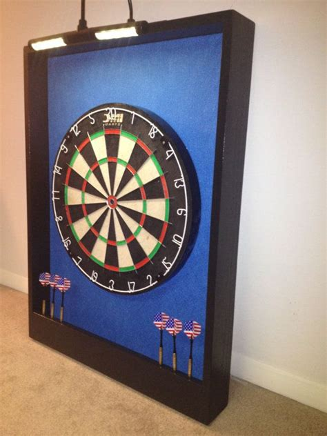 clip on dartboard light led lighted carolina blue black trim dart board