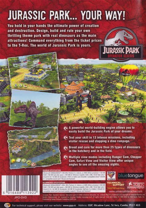 where to buy jurassic park operation genesis jurassic park operation genesis 2003 playstation 2 box