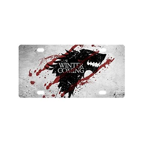 Decorative Front License Plates by Of Thrones Custom Novelty Front License Plate For Car