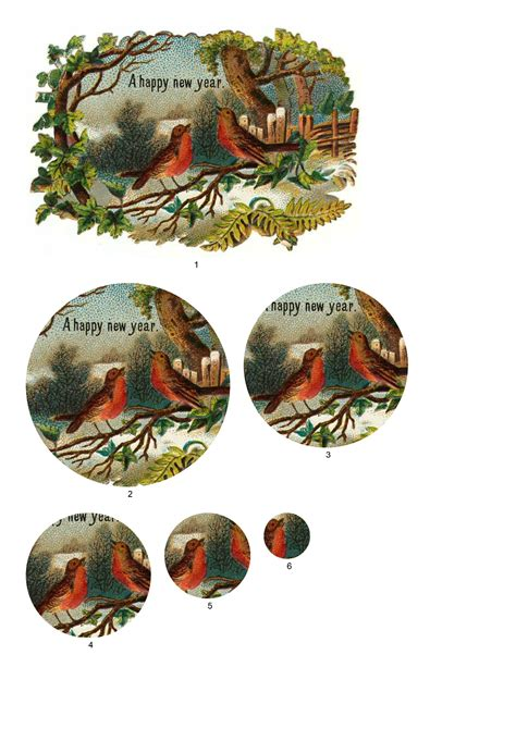Free Craft Downloads Decoupage - traditional robin decoupage free craft downloads