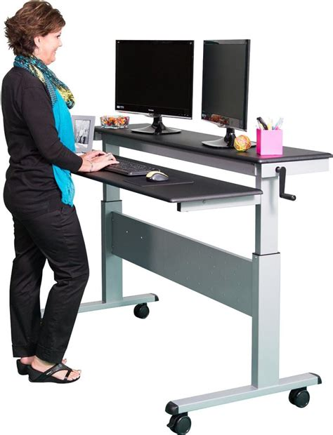 stand up desk stand the best standing desks with wheels for every budget