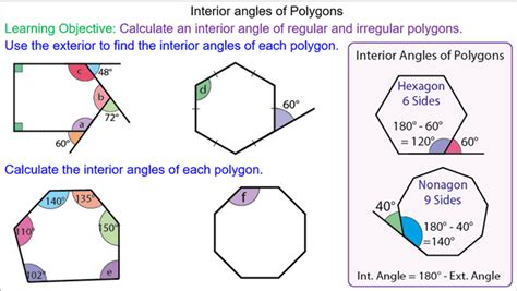 finding interior angles of a polygon worksheet interior angles of polygons mr mathematics