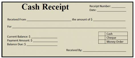 how cash receipts can be prepared in ms word project
