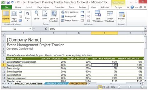 Free Event Planning Tracker Template For Excel Event Organizer Template