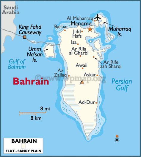 where is bahrain on a world map bahrain map