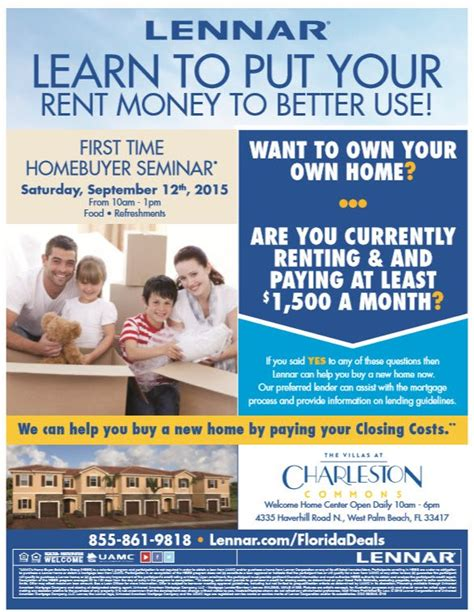 lennar hosts time homebuyer seminar at charleston
