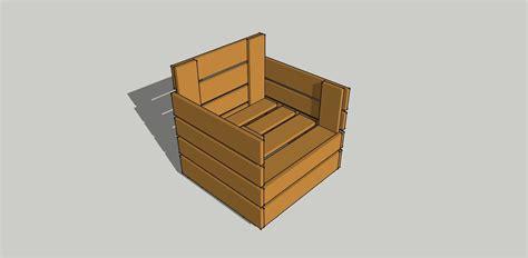 pallet armchair 3d model of pallet armchair