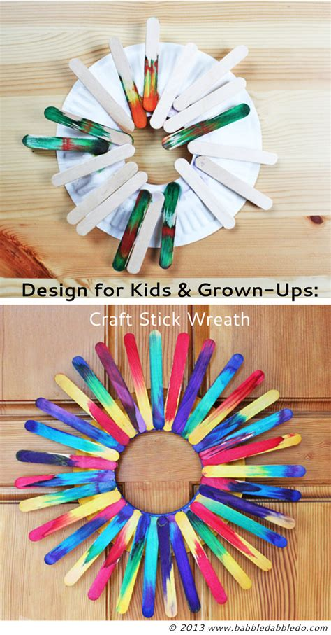popsicle stick craft for craft stick wreath babble dabble do