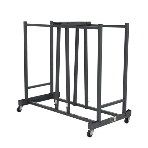 Folding Table With Storage Stainless Steel Folding Chair Storage Cart With Wheels And Painted With Black Color Ideas