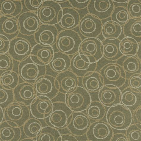 upholstery fabric with circles c584 green gold white overlapping circles durable