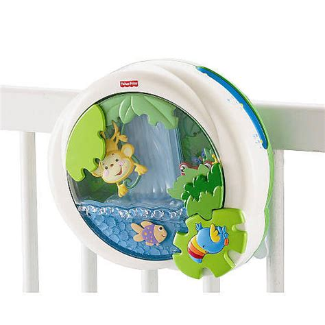 Crib Soother by Fisher Price Rainforest Waterfall Peek A Boo Soother The