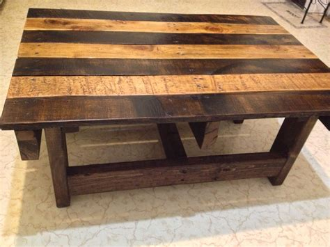 Handcrafted Wood Coffee Table - crafted handmade reclaimed rustic pallet wood coffee