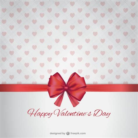 valentines day ribbon happy s day with ribbon vector free