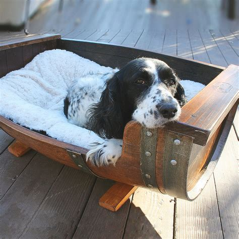 Coolest Beds reclaimed wine barrel dog bed the green head