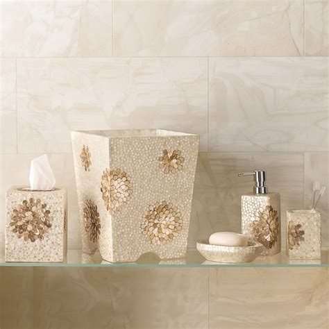 capiz shell bathroom accessories chrysanthemum capiz bath accessories gump s
