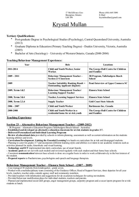 Canadian Resume Samples Pdf by Resume 2014 Krystal Canada Pdf