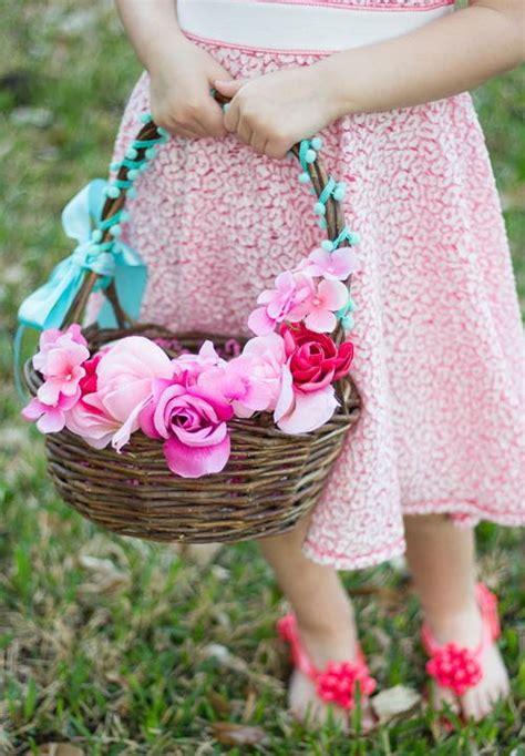Floral Baskets by Floral Diy Easter Basket Allfreeholidaycrafts