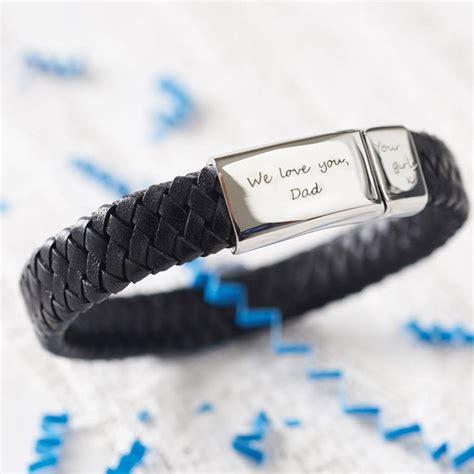 men's engraved message bracelet by under the rose   notonthehighstreet.com