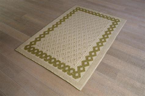 tappeti in cotone grandi 49 tappeto tessuto a rilievo rombetti grandi