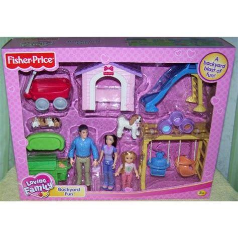 backyard dollhouse fisher price loving family dollhouse backyard fun playset b004c6ol94 amazon price