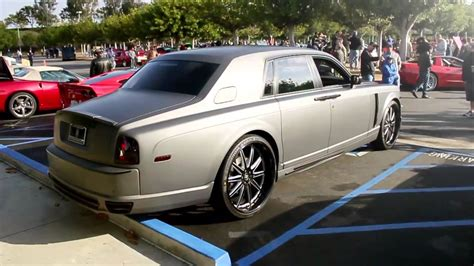 matte gray rolls royce matte grey rolls royce phantom at c ci 2013 youtube