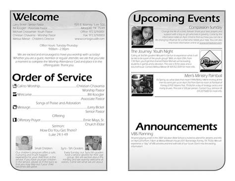 bulletin layout template best photos of church bulletin layout church bulletin