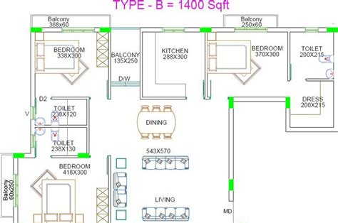 Estella Gardens Floor Plan by 1400 Sq Ft 3 Bhk 3t Apartment For Sale In Flower