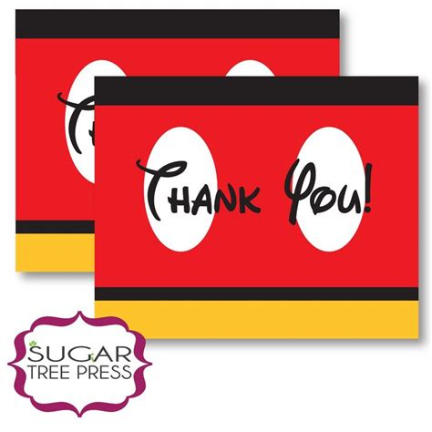 Mickey Mouse Thank You Card Template by 1000 Images About Mickey Mouse On Disney