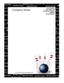 bowling letterhead