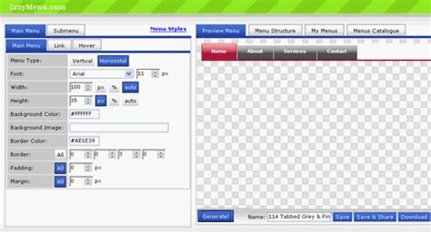 making css online create professional css dhtml menu online for free web