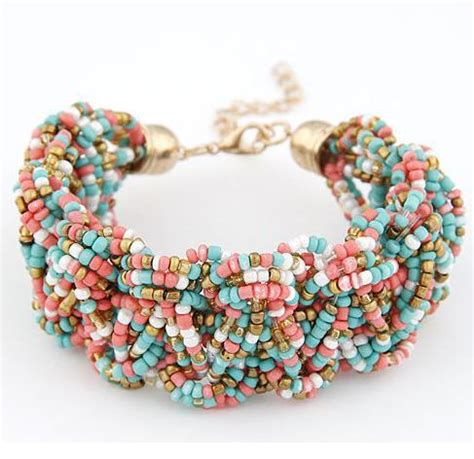 Handmade Beaded Bracelets For Sale - sale handmade bead turquoise bracelets fashion