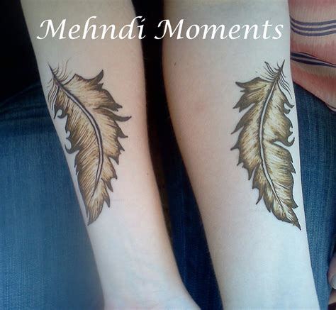 feather henna tattoo feather mehndi tattoos