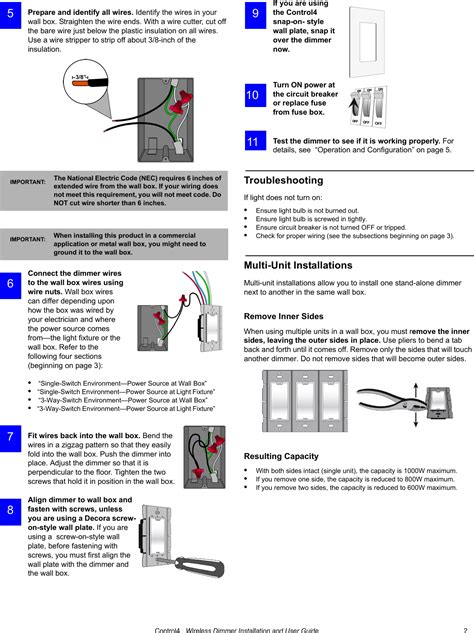 ldz1011 ldz 101 x controllable dimmer user manual