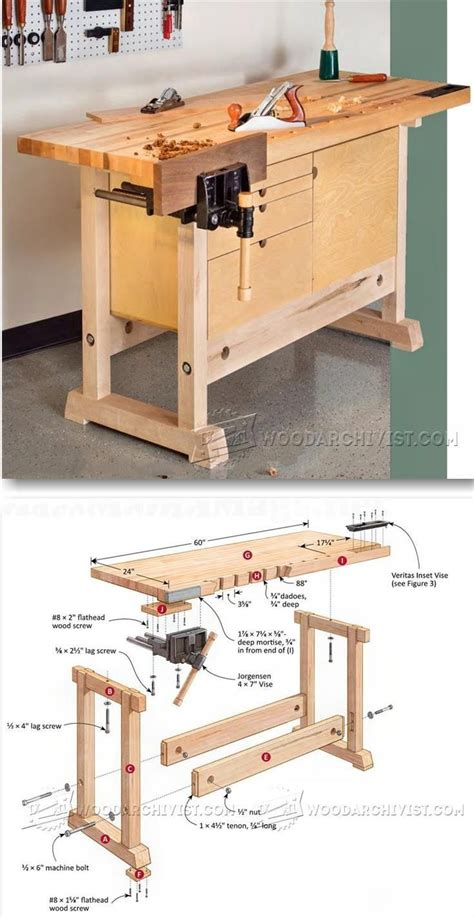 compact work bench compact workbench plans woodworking plans and projects woodarchivist com