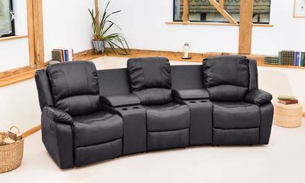 cinema sofas uk valencia leather cinema recliner groupon goods