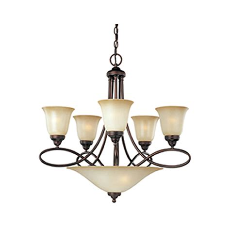rubbed bronze chandeliers shop pyramid creations 28 in 7 light rubbed bronze chandelier at lowes