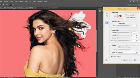 photoshop cs5 tutorial refine edge tool 1 tutorial photoshop cc how to change background with