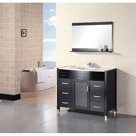 design element waterfall  bathroom vanity  white
