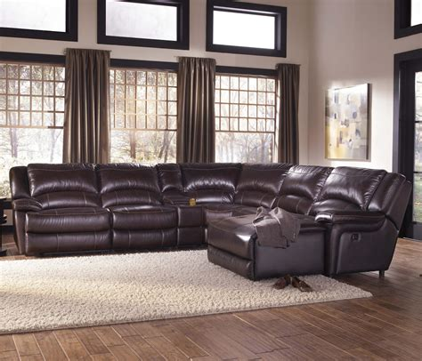 leather reclining sectional sofa with chaise living room decor with black leather sectional chaise sofa