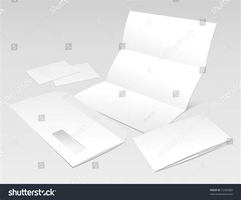 business card envelope template vector blank letter envelope business cards and booklet design