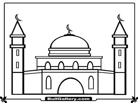 image gallery masjid drawing
