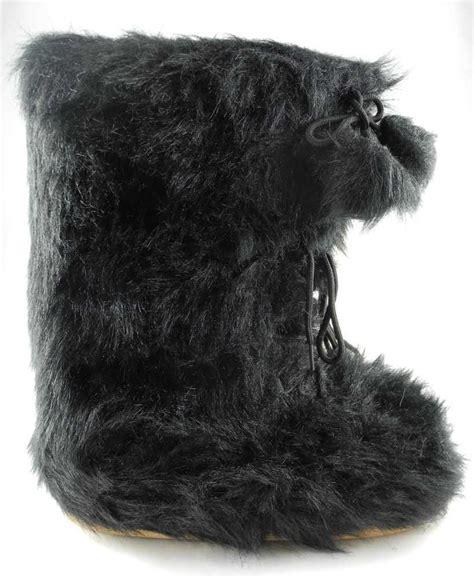 mens faux fur boots mens faux fur yeti sasquatch abominable snowman moon boots