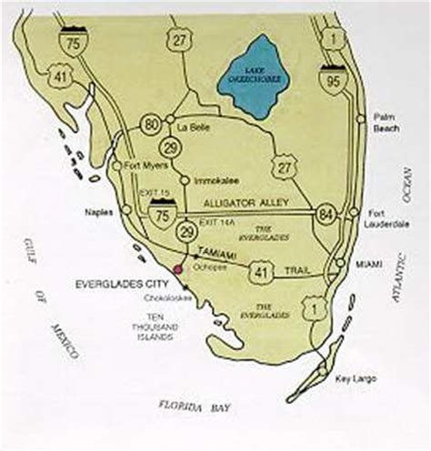 everglades national park map gulf of mexico map florida map