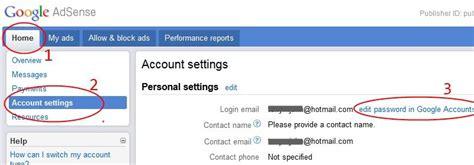 adsense change address how to change google adsense login email address